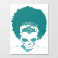 SKull GIrls 2 - Sky Teal Canvas Print