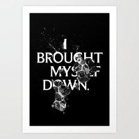 Nixon 01: I Brought Myself Down Art Print