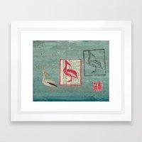 Pelican Collage Framed Art Print