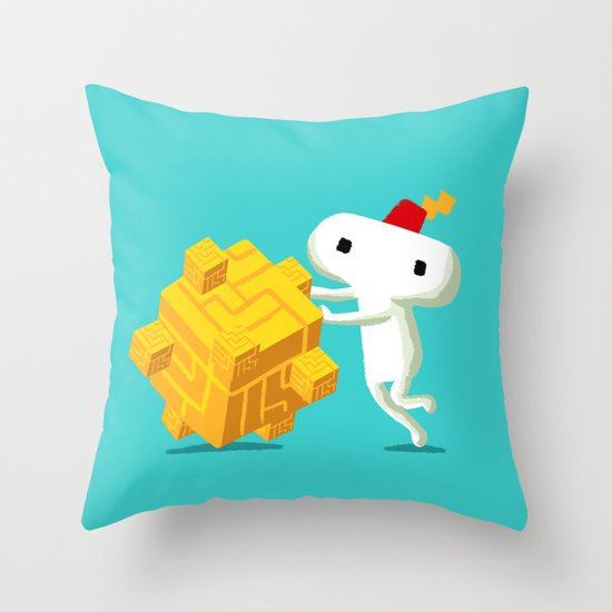 The Prince with a FEZ Throw Pillow