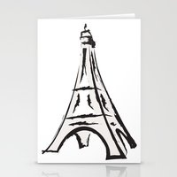 french Stationery Cards featuring French by jssj