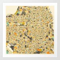 San Francisco Map Art Print
