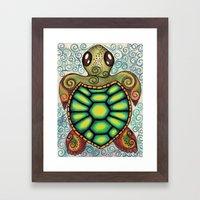 Baby Sea Turtle Framed Art Print