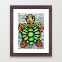 Baby Sea Turtle Framed Art Print
