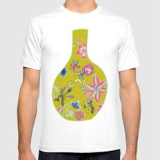 Chinese Pot SMALL White Mens Fitted Tee