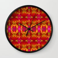 Like Flowers And Butterf… Wall Clock