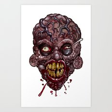 Heads of the Living Dead Zombies: Veins Zombie Art Print