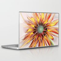 sunflower Laptop & iPad Skins featuring Sunflower by Klara Acel