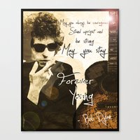 Bob Dylan Forever Young Canvas Print