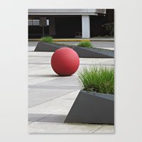 Round and Red Canvas Print