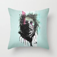 RIOT girl Throw Pillow
