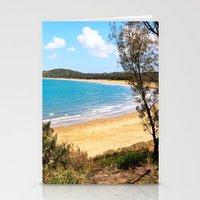 Idyllic tropical beach Stationery Cards