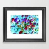 Secret Garden II - Floral Abstract Art Framed Art Print