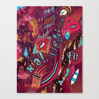 mash and sleep Canvas Print