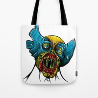 Zombie Wolverine Tote Bag
