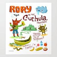 Rory In The Cuchula Moun… Art Print