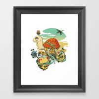 Turtle Island Framed Art Print