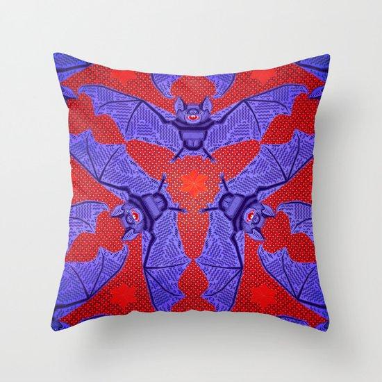 Vampire Blood Pattern Throw Pillow
