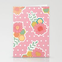 Hexagon floral 1 Stationery Cards