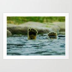 Feet of young pole bear Art Print