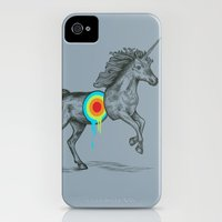 iPhone Cases featuring Unicore II by Rachel Caldwell