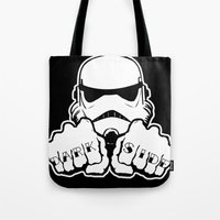 Dark Side Knuckle Tote Bag