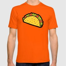 It's Taco Time! Mens Fitted Tee Orange SMALL