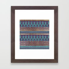 Gold Teal And Purple Arr… Framed Art Print