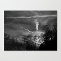 Ghostly Sunset Canvas Print