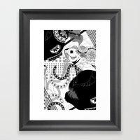 Fancy Deep‐sea Fish! Framed Art Print