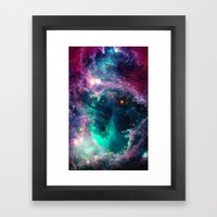 Pillars of Star Formation Framed Art Print