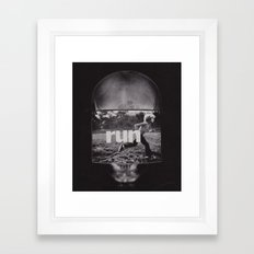 r u n (ANALOG zine) Framed Art Print