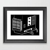 Amplifier White On Black Framed Art Print