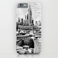 New York City - Fingerprint - Black ink iPhone 6 Slim Case