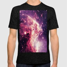 Mauve Galaxy : Monkey He… Mens Fitted Tee Tri-Black SMALL