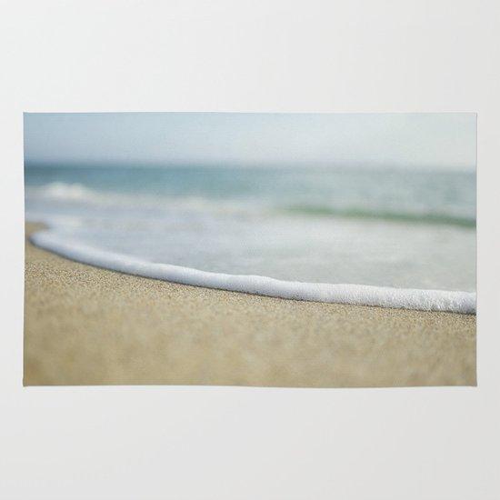 Sea Foam Beach Area & Throw Rug
