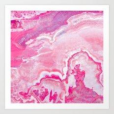 Pink onyx marble Art Print