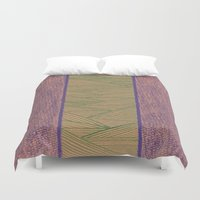 Green and Purple Duvet Cover
