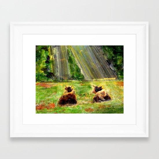 Cows of Bavaria Framed Art Print