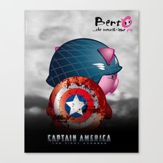 Berto: The Mental-issue pig as Captain America Canvas Print