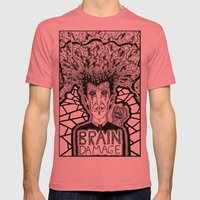 Brain Damage  Mens Fitted Tee Pomegranate SMALL
