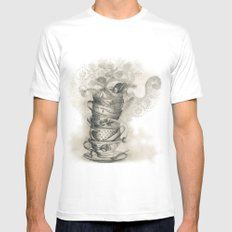 Tea bath White Mens Fitted Tee SMALL