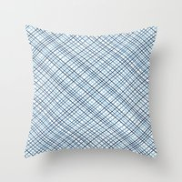 Weave 45 Blues Throw Pillow