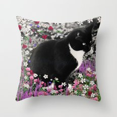 Freckles In Flowers II -… Throw Pillow