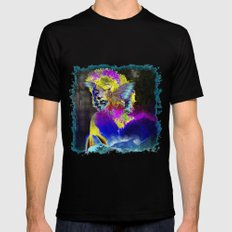 Marilin butterfly dolphin  Mens Fitted Tee SMALL Black