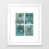 Phone Call Framed Art Print