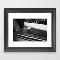 SOAP MEETS SNOW Framed Art Print