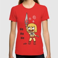 HeHeHeMan Womens Fitted Tee Red SMALL