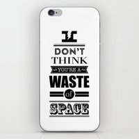 HP Quotes - Deathly Hall… iPhone & iPod Skin