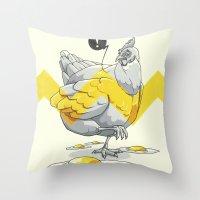 Chicken in the kitchen Throw Pillow